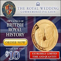 Royal Wedding Commemorative Coin - US