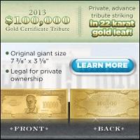 Gold Leaf Certificate