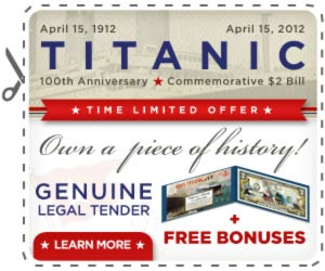 Titanic $2 Bill